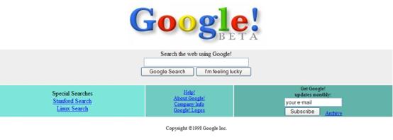Google, circa 1998