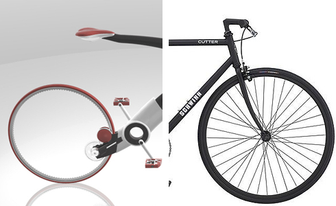 Left: Concept bicycle by Bradford Waugh; Right: Schwinn bicycle
